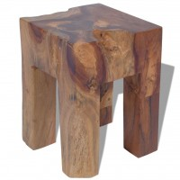 Hocker Massives Teak 30x30x40 cm