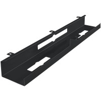 AMSTYLE® Kabelkanal Schreibtisch 80x7x13 cm breit Untertisch Kabelführung schwarz