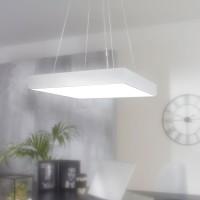 WOHNLING LED-Büroleuchte SQUARE Arbeitspendelleuchte 64W silber 5440 Lumen