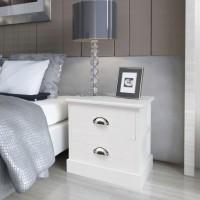 Nachttisch Landhausstil Weiß