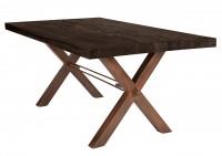 Tisch 220x100 cm, Balkeneiche carbon-grau