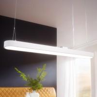 WOHNLING LED-Deckenleuchte LINE Matt weiß Metall EEK A+ Deckenlampe 48 Watt 120 x 121 x 15 cm