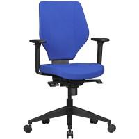 AMSTYLE Bürostuhl COLLIN mit Stoff-Bezug in Blau