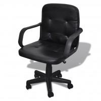 Bürosessel Bürostuhl Drehstuhl Chefsessel Ledemix schwarz