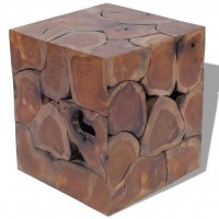 Hocker Massives Teak 40x40x45 cm