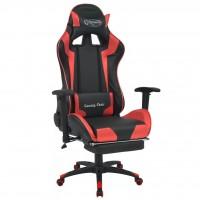 Bürostuhl Gaming-Stuhl Neigbar mit Fußstütze Rot