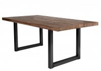 Tisch 220x100 cm, Balkeneiche Räucheröl-Finish
