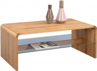 HomeTrends4You Couchtisch Ontario 109x44x60 cm in Wildeiche massiv