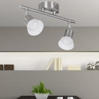 WOHNLING LED-Spot 2-flammig CLARA Deckenstrahler Dimmbar Lampe A+ Warmweiß 8 Watt