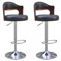 Barstühle 2 Stk. mit Bugholz-Rahmen Kunstleder