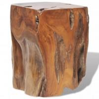 Hocker Teak Massivholz 30x30x40 cm