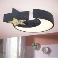 WOHNLING LED-Deckenleuchte NIGHTSKY Metall EEK A+ Deckenlampe Mond & Stern schwarz