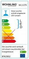 WOHNLING LED-Deckenleuchte STRIPE schwarz Metall EEK A+ Esszimmer-Deckenlampe 36 Watt 100 x 104 x 12