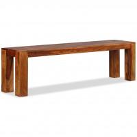 Sitzbank Sheesham Massivholz 160x35x45 cm