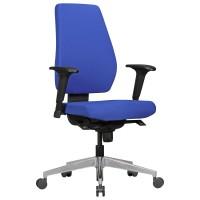 AMSTYLE Bürostuhl DARIUS mit Stoff-Bezug in Blau