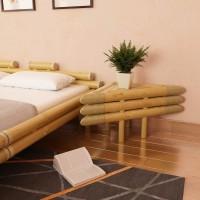 Nachttische 2 Stk. 60x60x40 cm Bambus Natur