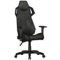 AMSTYLE® GamePad - Gaming Chair aus Kunstleder / Mesh in Schwarz
