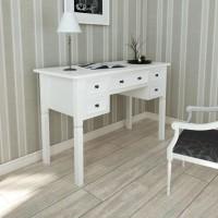 Weißer Schreibtisch mit 5 Schubladen