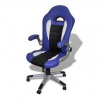Bürosessel Bürostuhl Drehstuhl Chefsessel Kunstleder Office Blau