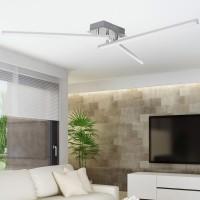 WOHNLING LED-Deckenlampe AMBAR 3-flammige Wohnzimmerlampe in Stäbchen-Design 90 cm A+