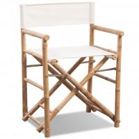 Klappbarer Regiestuhl Bambus und Canvas