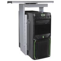 AMSTYLE® PC-Halter 360° drehbar Universal Computerhalterung 46 - 68 cm silber