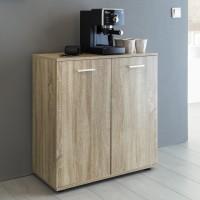 WOHNLING Kommode SVENJA mit 2 Türen 71x78x35cm Mehrzweckschrank Holz Sonoma